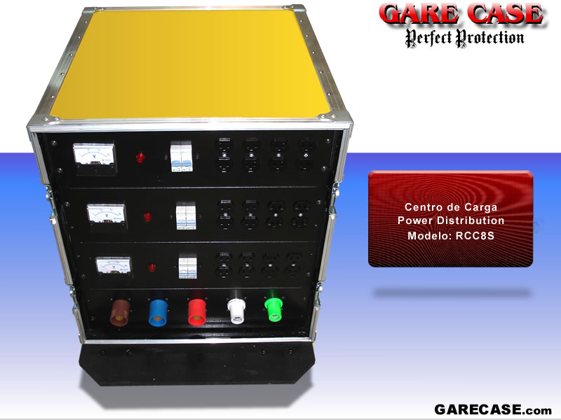 Rack centro de carga, medidor power distribution